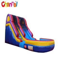 15ft 팽창식 물 슬라이드 상업용 팽창식 점프 물 슬라이드