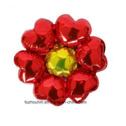 Zes bloeiden de Ballons van de Aluminiumfolie