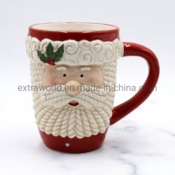 Kundenspezifisches Becher-Weihnachtsdekoration-Geschenk-keramisches Sankt-Cup