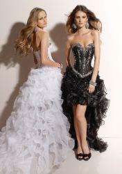 2013 패션 프론트 쇼트 롱 백 이브닝 드레스