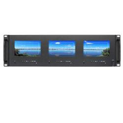 """5 """" Drievoudige Rek Opgezette LCD Monitor voor Professionele Uitzending"""