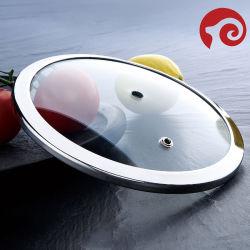 Tampas de caçarola utensílios de cozinha Atrito do vidro da tampa de Prato
