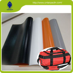 Proteção Laranja Fluorescente PVC tecido de malha de poliéster revestida