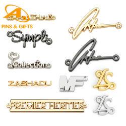 أدوات معدنية مخصصة الملابس الملحقات ذات الشكل المربع علامة معدنية فارغة / معرّف مع بطاقة الاسم