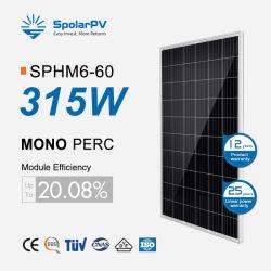 315W солнечная энергия моно солнечных модулей для 100квт проекта