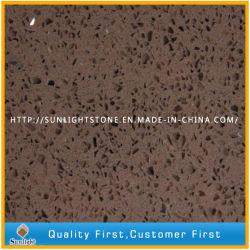 Barato Brown Engineered pedra artificial azulejos quartzito para parede/piso
