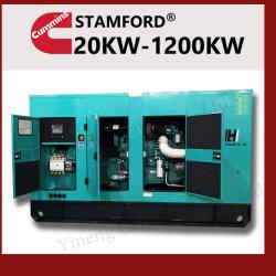 Kraftstoff-weniger elektrischer Strom-Pflanzengesetzte leise bewegliche Dieselgeneratoren 20kVA-1250kVA