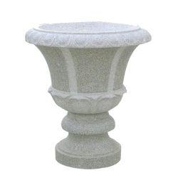 中国の大理石の石造りの花プランター植木鉢の石のつぼ