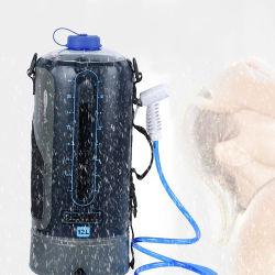 Fw2078 12L beweglicher kampierender Dusche-Beutel-Pumpen-Druck-wasserdichter Arbeitsweg-kampierender Dusche-Solarbeutel