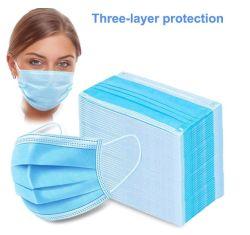 Descartáveis cirúrgica Medica máscara facial por 3ply não tecidos