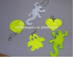 Impresión reflectante Llavero PVC blando, Llavero personalizado, reflejan de productos de seguridad de artesanía
