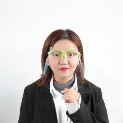 패션 안개 방지 풀플라스틱 투명 페이스 실드 유리 투명 얼굴 표지 색상