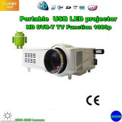 1080p, proyector de vídeo LED Digital/Projektor/Projetor/Proyector HDMI/ Turner TV HD/SD/USB/VGA/DVB-T (D9H)