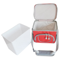 소풍을 위한 내부 플라스틱 상자가 있는 열 절연 쿨러 백 캠핑