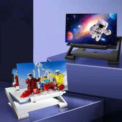 Universal 7인치 10인치 접이식 3D 확대 화면 돋보기 Amplifier Mobile 폰 HD 스탠드