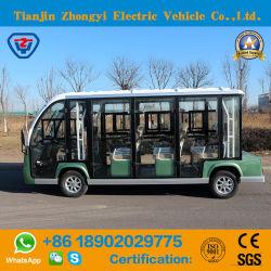 Zhongyi 11 Passagiere beiliegend weg vom Straßen-batteriebetriebener klassischer Doppelventilkegel-elektrischen Fahrzeug mit Qualität
