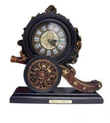 Nueva moda Polyresin OEM Artesanía reloj