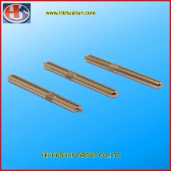 Eje de acero inoxidable de precisión moleteado/Pin, Euro pasadores (HS-SS002)