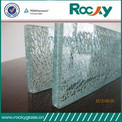 Vidro de segurança temperado 8 mm para banheiro com orifícios&Sulcos com certificação CE
