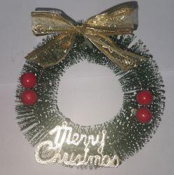 Artificiales decorativos hechos a mano Material de PVC de coronas de Navidad guirnalda