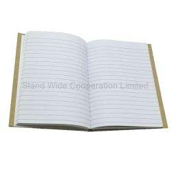 Schule-Kursteilnehmer Notizbuch, Ausgabe-kundenspezifisches Gewebe-Tagebuch-Buch