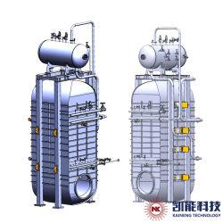 Tubo verticale dell'acqua caldaia a vapore di cascami di calore di 6 tonnellate per Hfo Wartsilar/il progetto stabilito della centrale elettrica motore dell'uomo