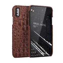 Het hete het Verkopen Geval van iPhone van het Leer van de Dekking van de Telefoon van het Leer van het Af:drukken van de Krokodil van het Leer van de Hoogste Kwaliteit Echte Mobiele