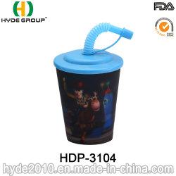 400ml sans BPA Kids lenticulaire 3d bouteille d'eau en plastique