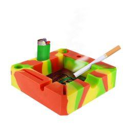 Regalo promocional personalizado de silicona cigarrillo cigarro cenicero