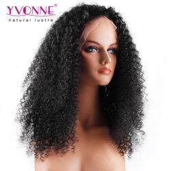 Yvonne-natürliche Farben-chinesische menschliche Jungfrau-Spitze-Vorderseite-Perücke-malaysische Rotation