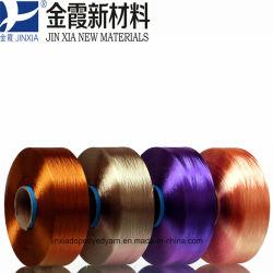 Het verdovend middel Geverfte Multifilament Garen 50d/24f van het Garen FDY van de Polyester