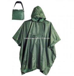 Polyester/PVCのRainwearの屋外の摩耗のポンチョTabardo