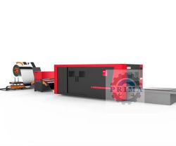 Tagliatrice del laser di disegno della fibra del acciaio al carbonio dell'acciaio inossidabile del laser della bobina di Prima nuova Exchangable che arrampica doppia Tabella