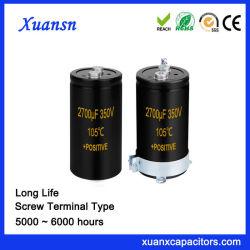 Terminal roscado directamente Xuansn capacitor grande 2700UF 350V
