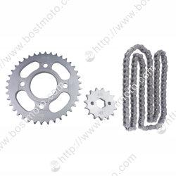오토바이/오토바이 예비 부품 스프로킷 체인 세트(Cg125용