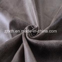 قماش الجلد البرونزي المصنوع من البولي إستر بنسبة 100% في الجلد الصناعي