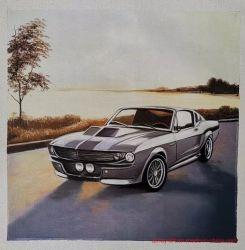 رسم سيارة مصنوع خصيصا رسم زيتية رسم مكتب الجدار