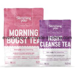 Herbal Detox de brûler les graisses matin Boost et la nuit Cleanse thé (14) Programme de jour