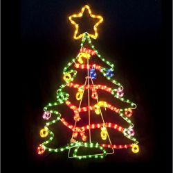 Clasificación IP65 al aire libre 2D de iluminación personalizados de Navidad Motivo de la luz de la cuerda