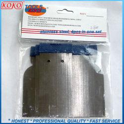Aço carbono alça plástica 4PCS de enchimento de Ajuste o raspador Espátula