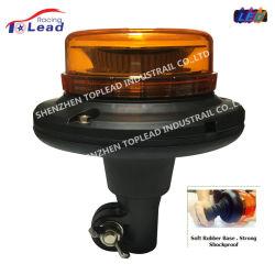 La parte superior llevan lente Felxible PC el soporte de goma 5730 Emergencia Luz estroboscópica LED de luz de giro