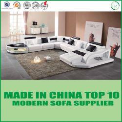 Wohnzimmer-Möbel-modernes ledernes Sofa mit realem Leder