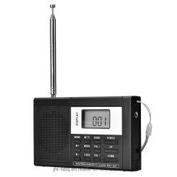 イヤホーンのジャックのDC電源USB充満および電池が付いている力ロックそして13のバンドステレオスピーカーが付いているPll無線のポケット・サイズFM/MW/Swのラジオ