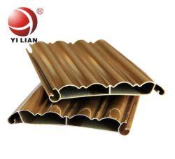 6063 T5 L de aluminio anodizado / Recubrimiento de polvo de grano de madera/ rodillo de aluminio Perfil de obturación para marco de la puerta delantera garaje/Material de construcción