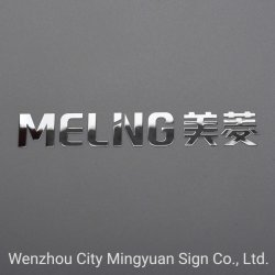 Galvanoplastia níquel metal fino o 3D de la etiqueta de logotipo personalizado (MELNG)