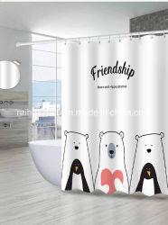 100%年のポリエステルファブリック環境に優しいデジタル印刷の浴室の浴室のシャワー・カーテン