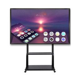 LED LCD del reproductor de anuncios Android Multi Touch de infrarrojos de 20 puntos Pantalla de TV pantalla plana Pizarra interactiva Smart Board para Escuela y Oficina
