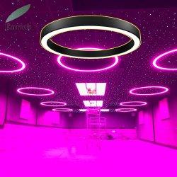 棒ディスコのための現代様式RGBのタイプ中断されたLEDのリングライトアルミニウム円ランプ