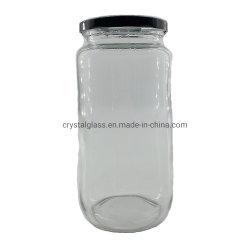 32oz de la largeur de 1 litre de la bouche de grande capacité de stockage des aliments en conserve de verre vide Jar avec couvercles