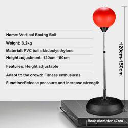 Velocidade de boxe Bola Adulto's Deluxe Autoportante Reflex saco de boxe com luvas de Bomba Manual de Altura Ajustável